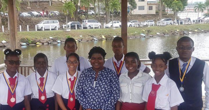 School representatives at 2020 Science Fair